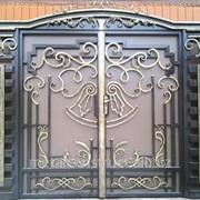 Ворота кованые авторские №11 фото