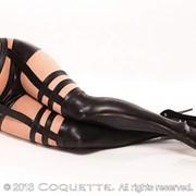Оригинальные глянцевые чулки Coquette фото