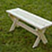 Лавка складная (1,0 метр) садовая, деревянная фото