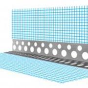 Угол перфорированный алюминиевый с сеткой фото