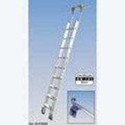 Алюминиевая лестница для стеллажей, со ступенями 10 шт для круглой шины Stabilo KRAUSE 819352 фото