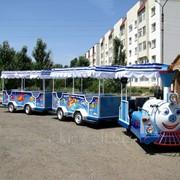 R-KIDS: Детский аттракцион паровозик, безрельсовый поезд для парка, ТРЦ фото
