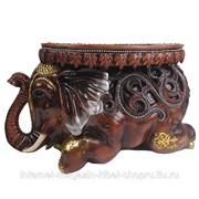Изделие декоративное Слон (цвет коричневый), 55*22*32см фото