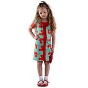 Оригинальное детское платье зеленого цвета 104 фото