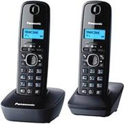 Стационарный телефон, беспроводная трубка (DECT) Panasonic KX-TG1612 , 2 трубки, черно-серый фото