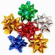 "Бант-звезда OMG ""Металл"" 2,5 см, 100 шт,, на липучке, ассорти, OM500559-10 фото"