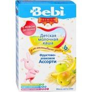 Бэби каша премиум фруктово-злаковое ассорти с молоком (с 6 мес) 250г фото