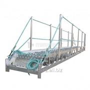 Трап-сходня алюминиевая с эвольвентными ступенями ТСА - 2х600 фото