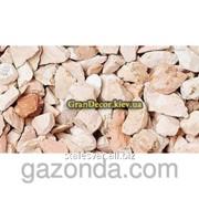Натуральный камень • Мраморная крошка цветная Коралловая 12-16 мм фото