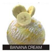 Йогуртовое мороженое с сорбетом из бананового пюре и кусочками банана фото