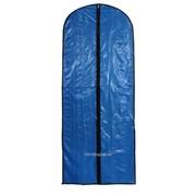 Чехол для одежды прозрачный, цвет синий фото