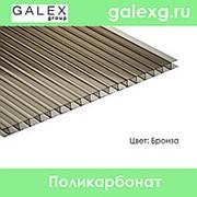 Сотовый поликарбонат POLYGAL (Полигаль) толщ. 3,2мм бронза фото