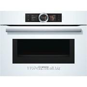 Компактный духовой шкаф с микроволновым режимом Bosch CMG6764W1, белый фото