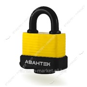 Замок навесной АВАНТЕК влагостойкий авт.англ. ключ 50 мм. 3 ключа Акула FL-1550 №318230 фото