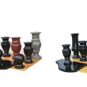 Гранитные декоративные елементы.гранитные вазы,подсвечники. фото