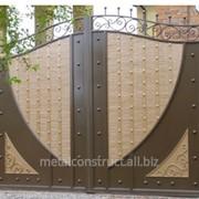 Ворота кованые двухцветные №2 фото