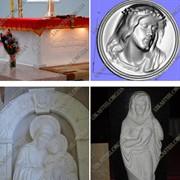 Иконостасы, престолы из природного камня фото