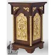 Стол литийный деревянный №1 с позолоченными элементами фото