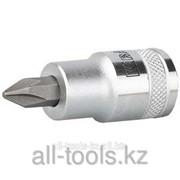 Торцовая бита-головка Kraftool Industrie Qualitat , материал S2, PHILLIPS, сатинированная, 1/2, PH3 Код:27901-3_z01 фото