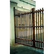 Ворота деревянные 1207 фото