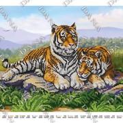 Схема для вишивки бисером Пара тигров фото