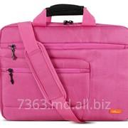 Сумка для ноутбука 15,6 LogicPower LF-8215E нейлон, ярко розовый фото