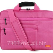 Сумка для ноутбука 15,6 LogicPower LF-8215E нейлон, ярко розовый