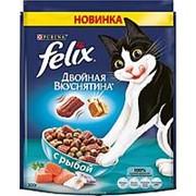 Felix 300г Двойная вкуснятина Сухой корм для взрослых кошек Рыба фото