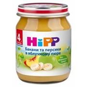 Пюре Hipp 125г Бананы и персики в яблочн пюре, с 4мес фото