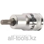 Торцовая бита-головка Kraftool Industrie Qualitat , материал S2, Spline , сатинированная, 1/2, M16 Код:27911-16_z01 фото