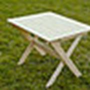 Стол садовый складной (1м) деревянный фото