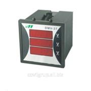Цифровой индикатор напряжения щитовой 3-ф DMV-3T фото