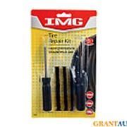 Набор для ремонта бескамерных шин IMG V104 шило+рашпиль+3жгута фото