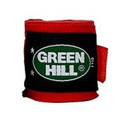 Бинт боксерский Green Hill BP-6232a 2,5м эластик красный фото
