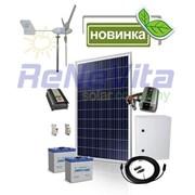 Комплект оборудования гибридной ветро-солнечной энергосистемы для дома фото