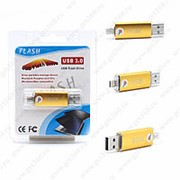 Флешка Flash с двумя USB портами 16GB (micro) Желтый фото