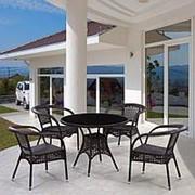 Комплект плетеной мебели T220C/Y32 Brown 4Pcs фото