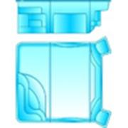 Прямоугольный бассейн модульный фото
