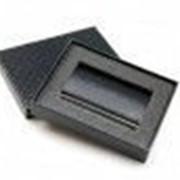 Визитница (94x61x7mm, металлическая с тиснением казахского орнамента, черный фото