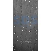 """Гирлянда """"Светодиодный Дождь"""" 2х3м, эффект водопада, прозрачный провод, 24В, диоды БЕЛЫЕ, NEON-NIGHT фото"""