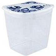 Ёмкость для сыпучих продуктов квадратная IDEA ДЕКО 1л. М1225 /18/ фото