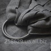 Слинг с кольцами для новорожденных и старше тм Наш слинг Ёлочка Ч/Б саржевый фото