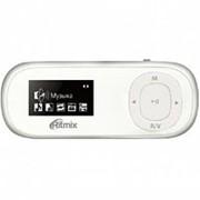 Плеер Ritmix RF-3410, дисплей, клипса, встроено 4 Гб, FM-радио, MP3, WMA, TXT, CF до 16 Гб, диктофон - белый фото