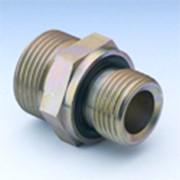 Соединение резьбовое для труб с уплотнительным кольцом, резьба в тело дюймовая BSP и BSPT, прямое и угловое под 90 градусов фото
