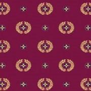 Ковролан (ковролин) Aquarelle красный c медальонами фото