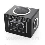 Мультимедийный проигрыватель F3 с функцией FM-радио, слот для SD карт, в черном деревянном корпусе фото
