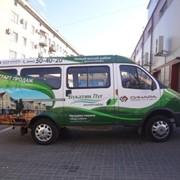 Реклама на бортах маршрутных такси. фото