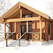 Дачный домик из дерева 48 м² фото