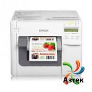 Принтер этикеток Epson TM-C3500 струйный 720x360 dpi, LCD, Ethernet, USB, отрезчик, блок питания, кабель, граф. иконки, C31CD54012CD фото