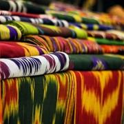 Натуральные узбекские ткани ручной работы фото